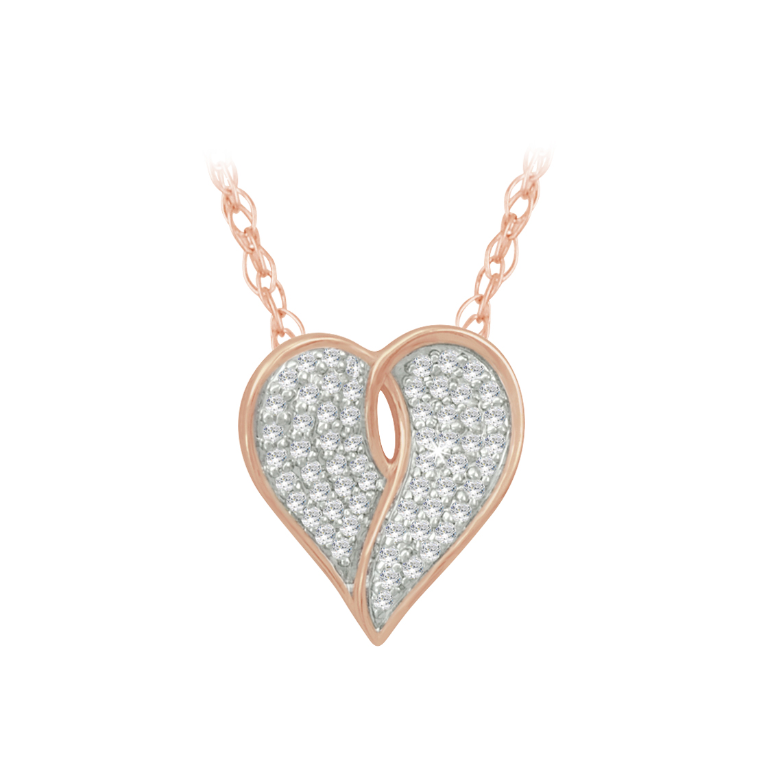 Rose gold heart pendant h williams jewellery rose gold heart pendant request more info mozeypictures Image collections