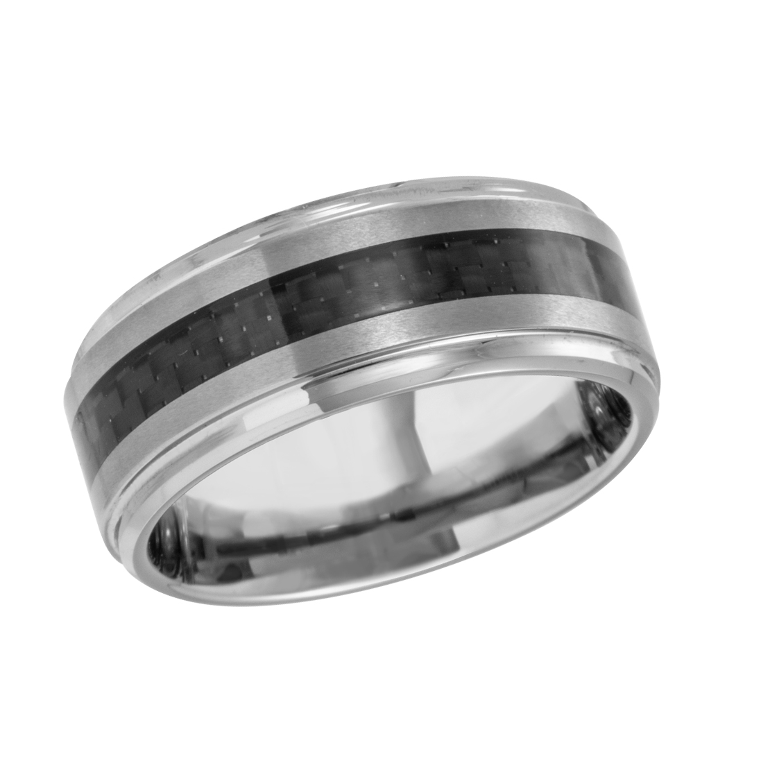 Men's Madani Tungsten/Carbon wedding band