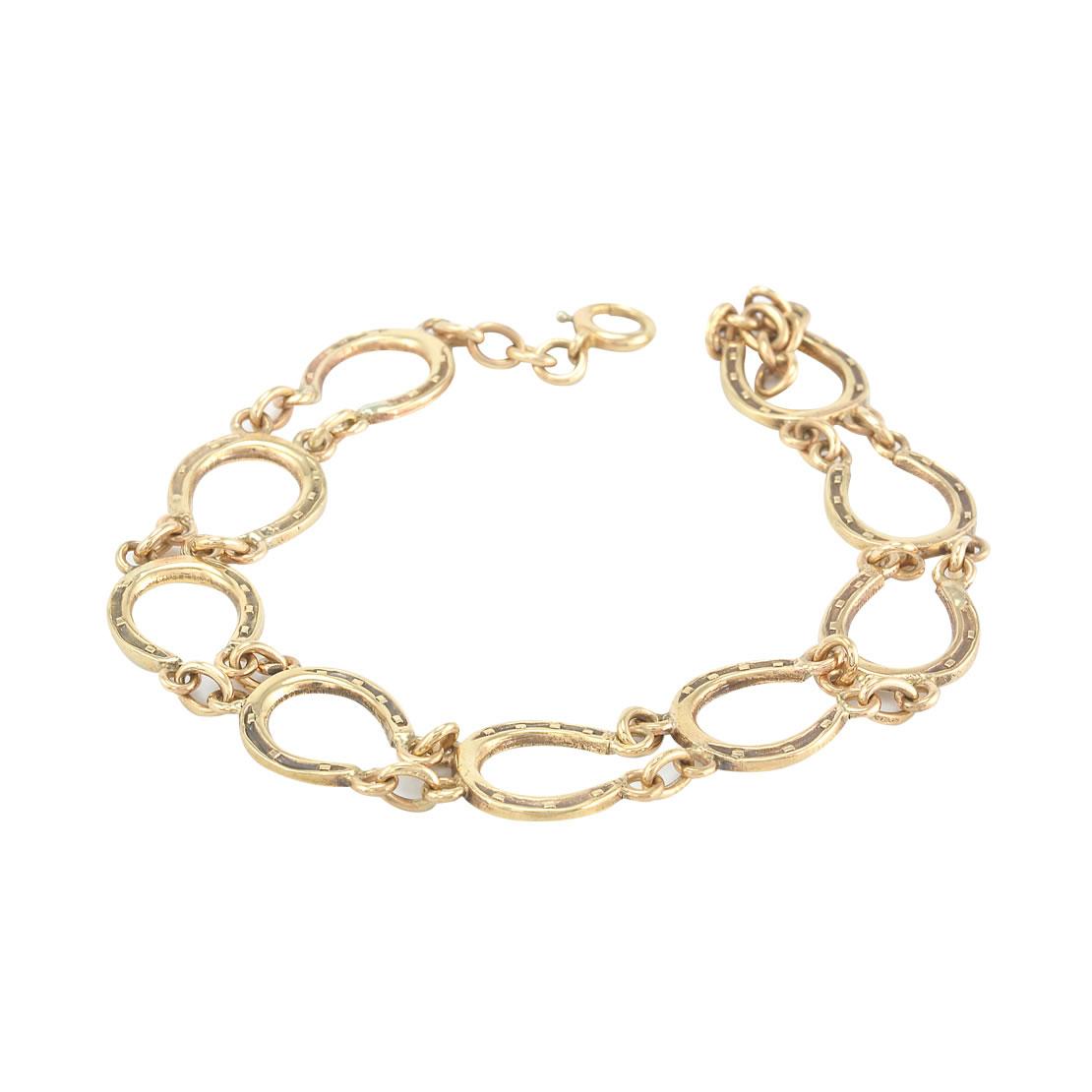 Yellow Gold Horseshoe Bracelet