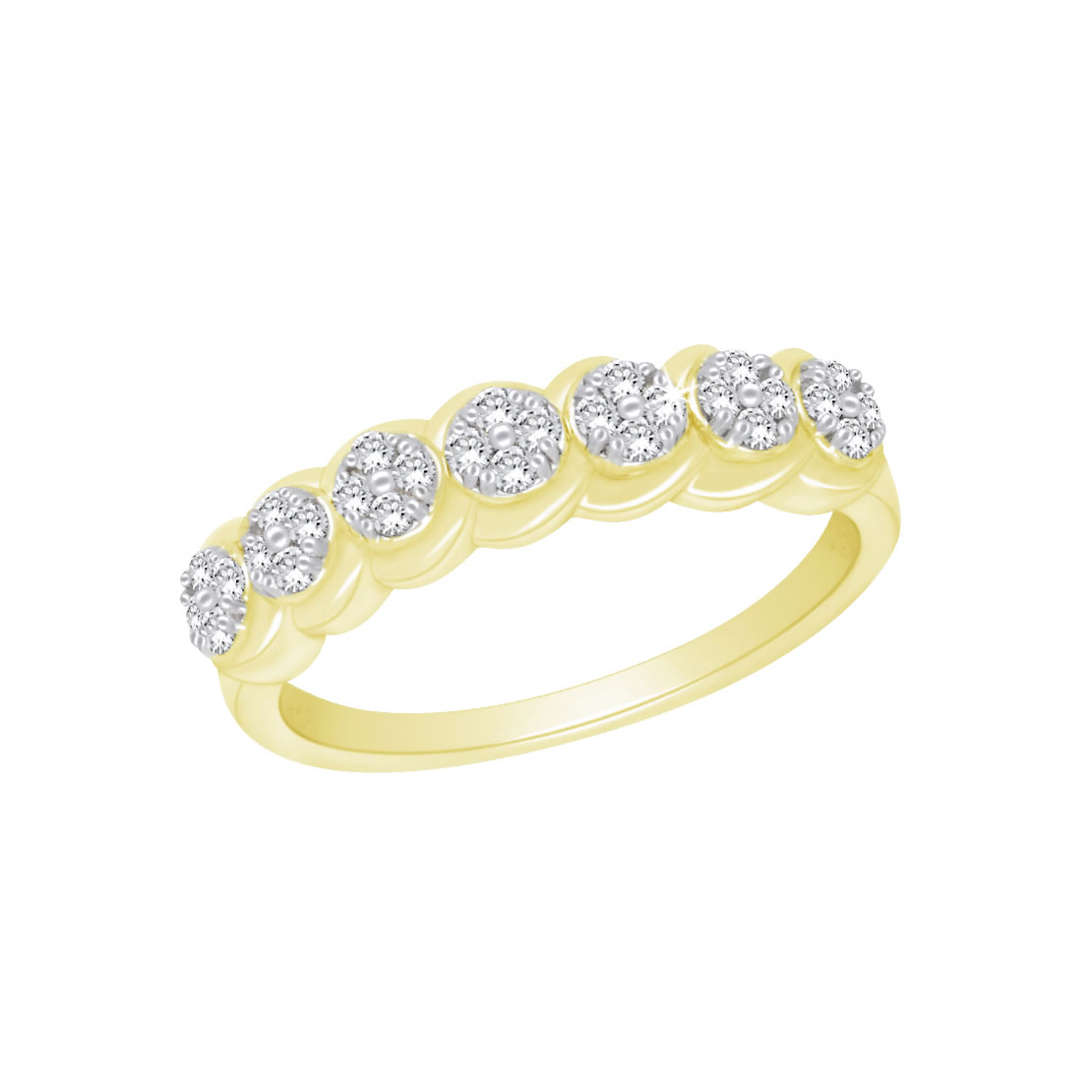 14k White or Yellow Gold Ring with Diamonds