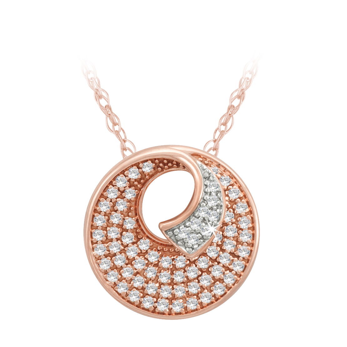 Rose Gold and Diamond Pendant