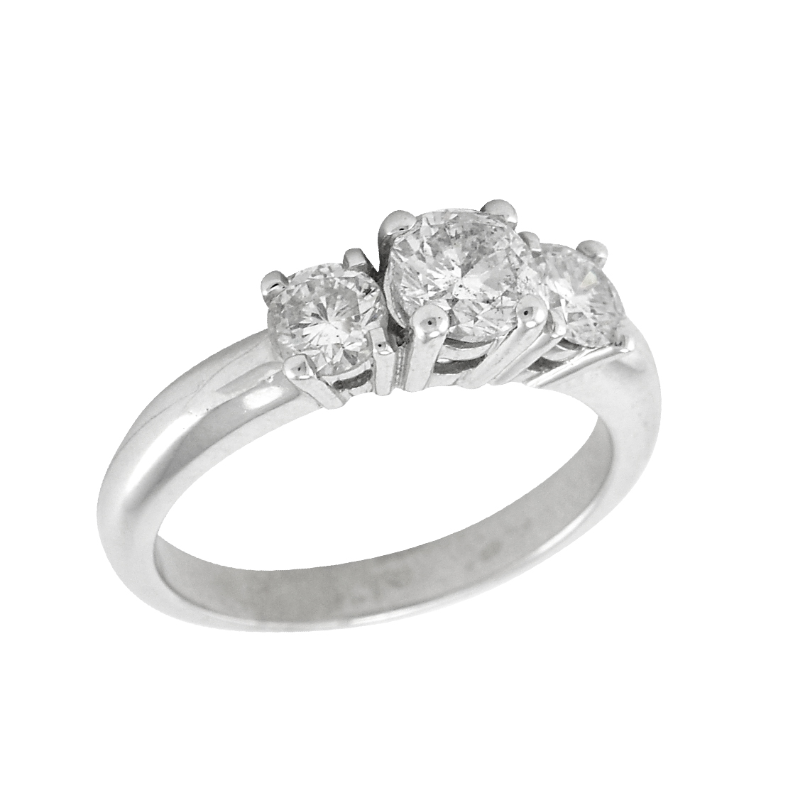 White Gold Trinity Set Engagement Ring
