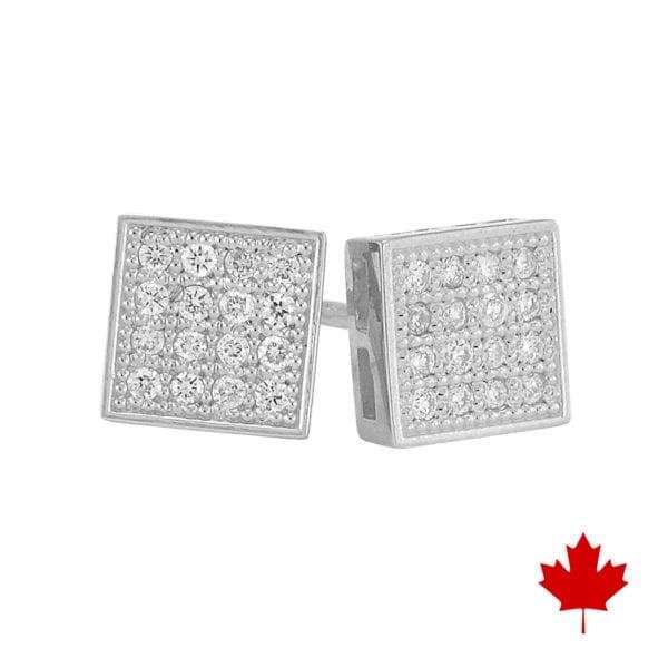 Pave diamond stud earrings