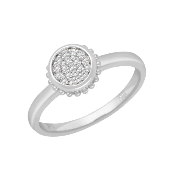 Diamond Sterling Silver Promise Ring