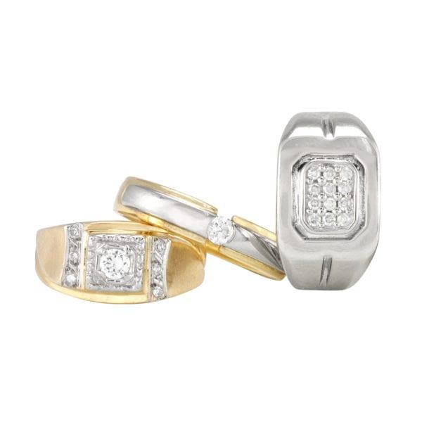 Assorted Men's Diamond Rings