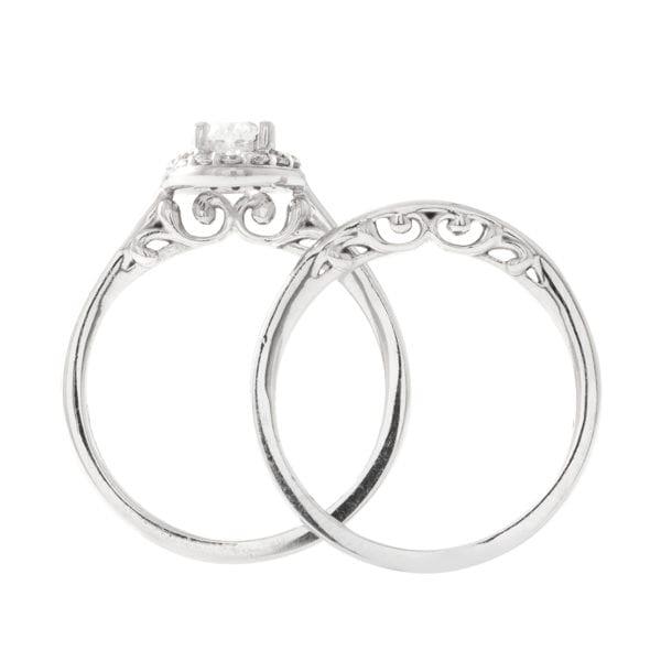 Diamond Engagement and Wedding Set