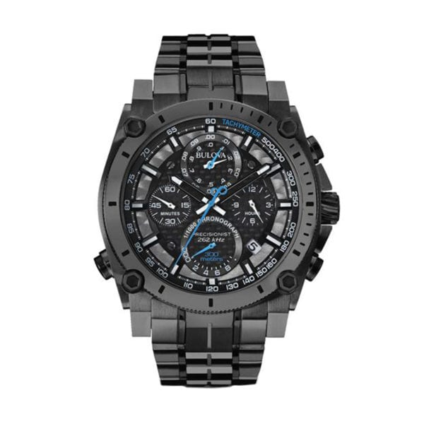 Men's Bulova Watch stainless steel with a gunmetal grey ion-plated finish
