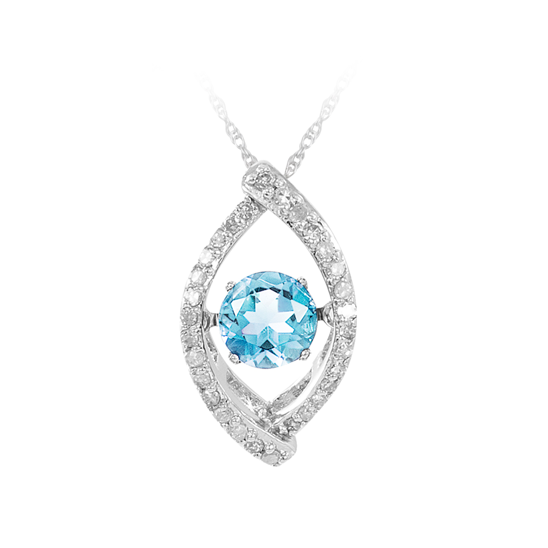 Sterling Silver and Topaz Pendant