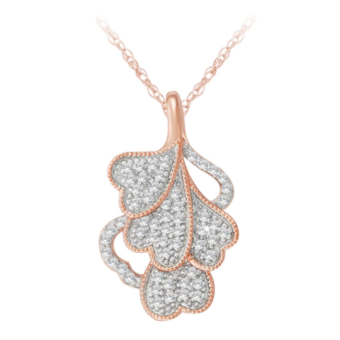 Rose Gold Diamond Pendant