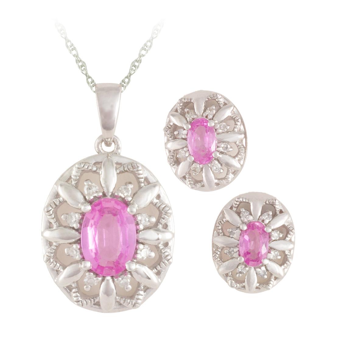 Sapphire and Diamond Jewellery Set