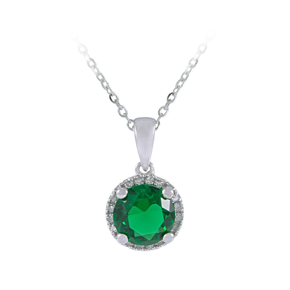 Diamond Emerald Pendant