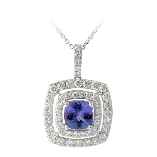 Diamond and Tanzanite Pendant