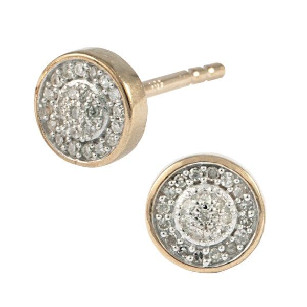 Diamond Pave Set Stud Earrings