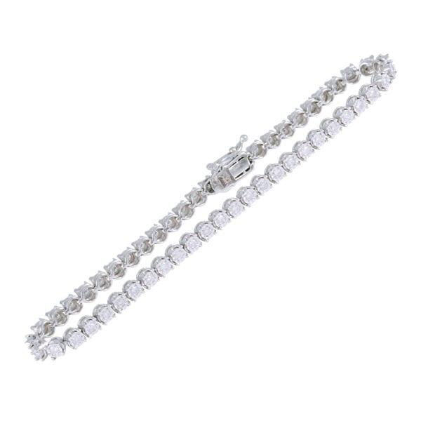 Diamond Illusion Setting Tennis Bracelet