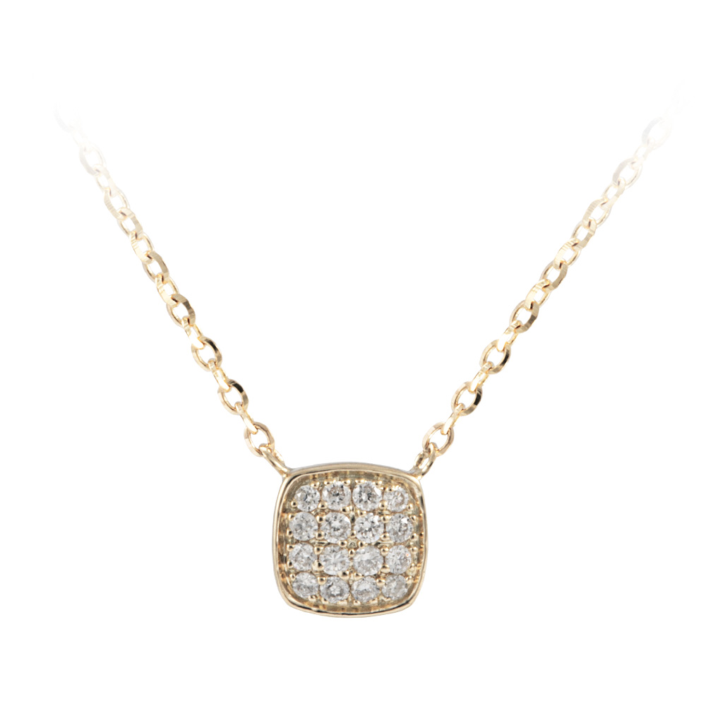 Yellow Gold Diamond Prism Pendant