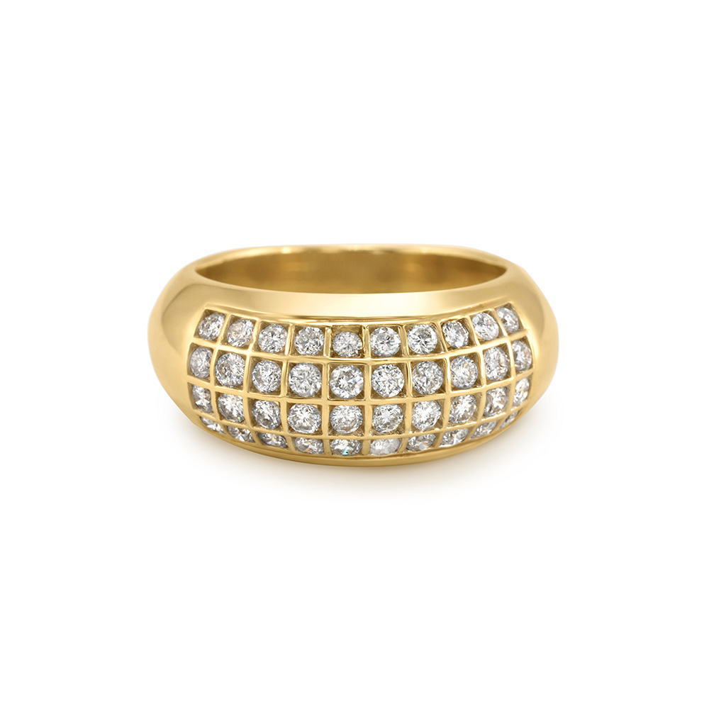Yellow Gold and Diamond Anniversary Ring