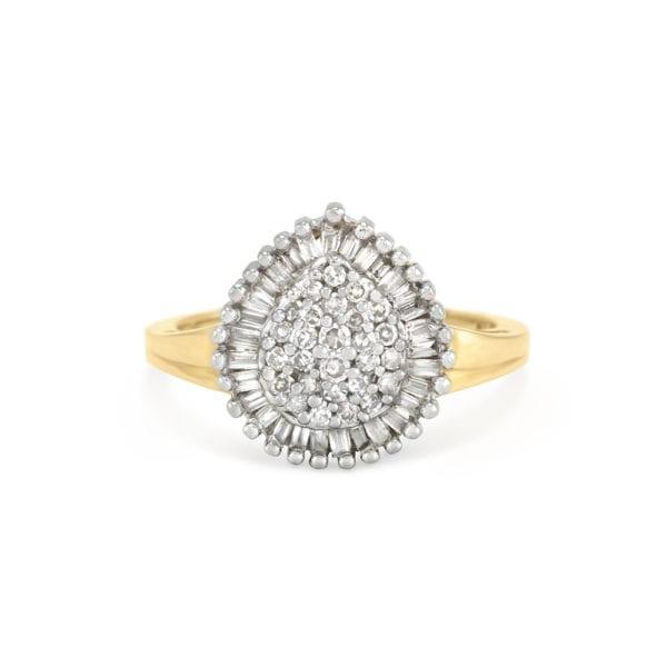 Gold Diamond Baguette Ring