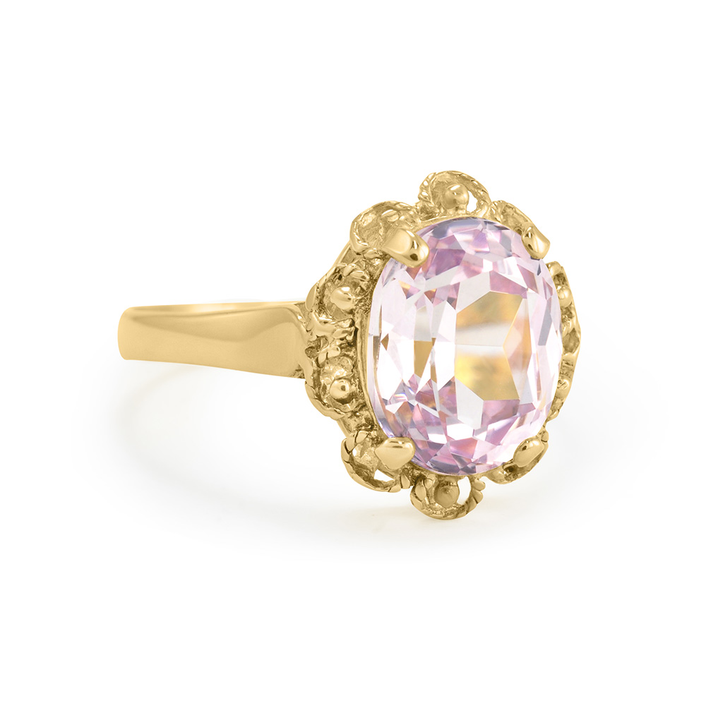Gold and Pink Stone Ring