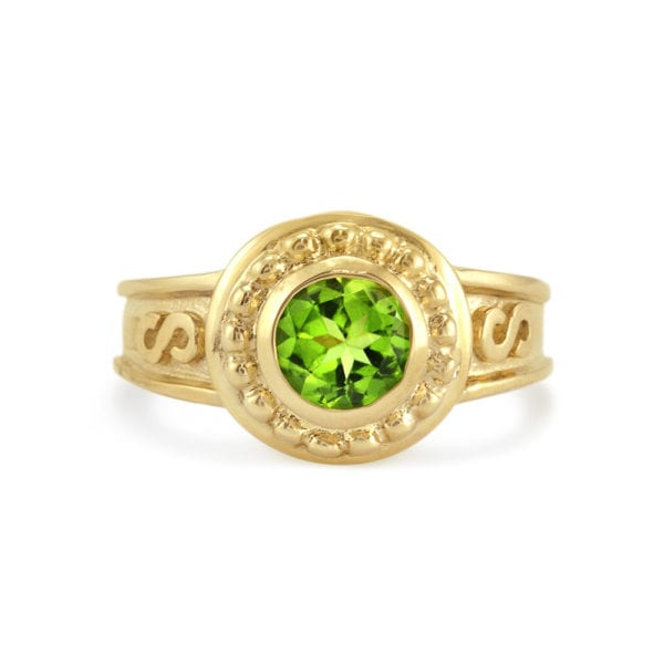 Gold and Peridot Ring