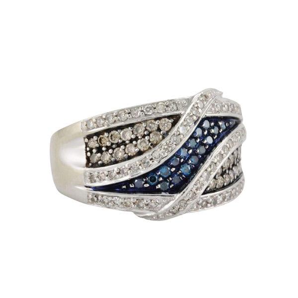 Multi Coloured Diamond Ring