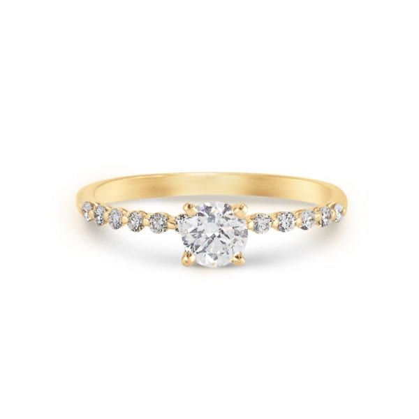 S. Kashi Contemporary Engagement Ring