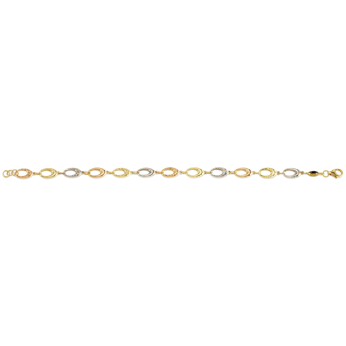 White and Rose Gold Anklet