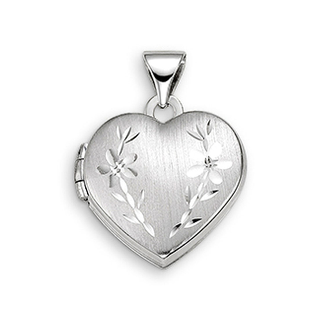 White Gold Locket with Engraving