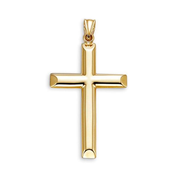Modern 10 karat Yellow Gold Cross Char