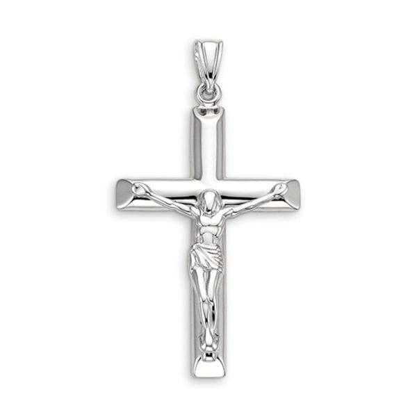 White Gold Crucifix