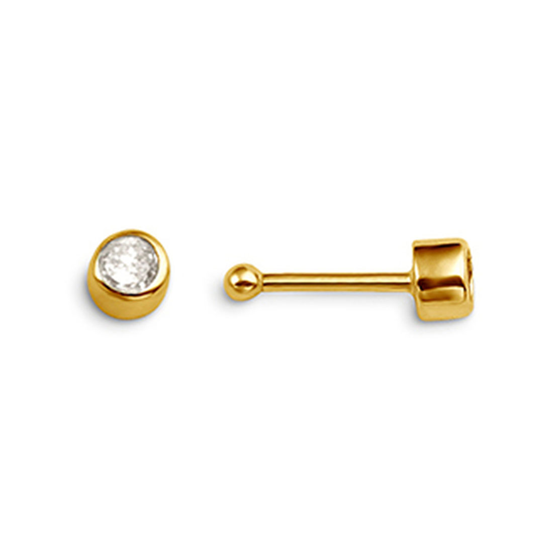 Yellow Gold Nose Stud