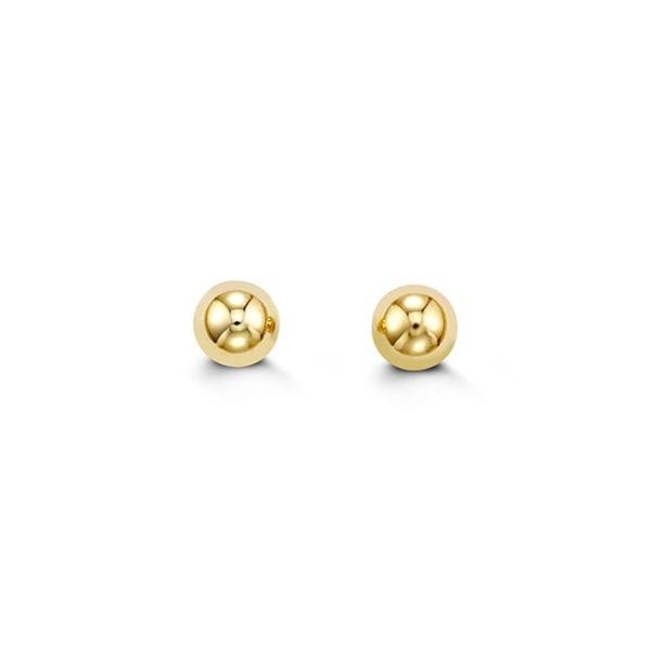 Yellow Gold Ball Stud Earrings