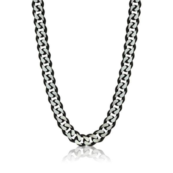 Steel and Black Men's Necklace